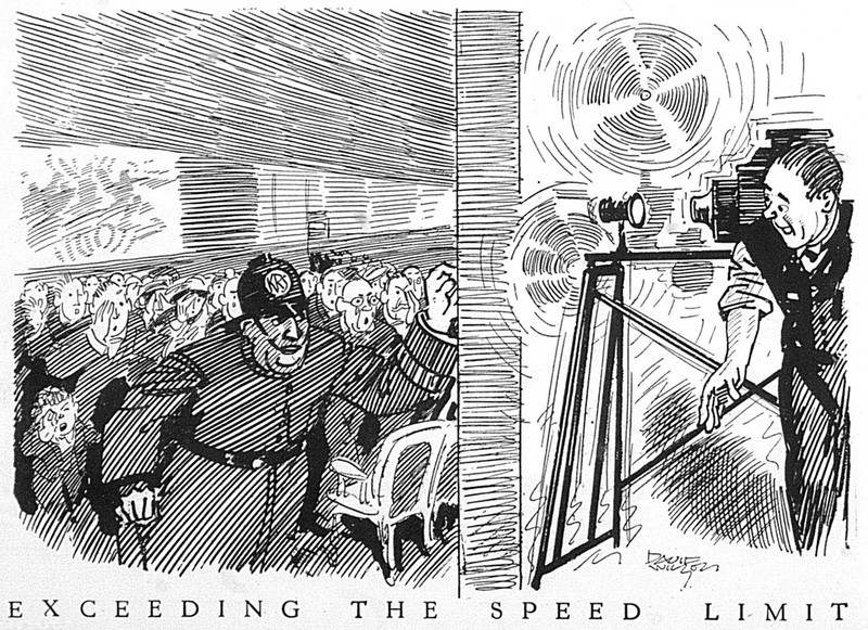Cartoon: Exceeding the Speed Limit (1922)