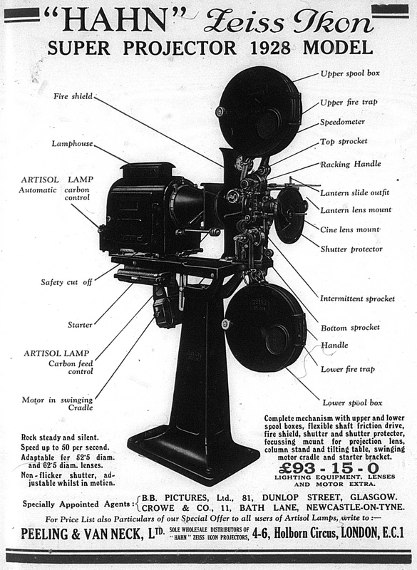 "Advert: ""Hahn"" Zeiss Ikon Projector (1928)"