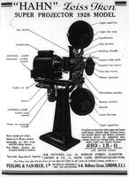 """Advert: """"Hahn"""" Zeiss Ikon Projector (1928)"""